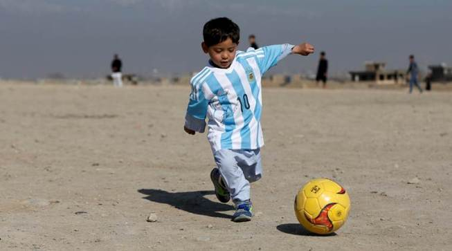 Young Afghan Lionel Messi fan threatened by Taliban, flees home